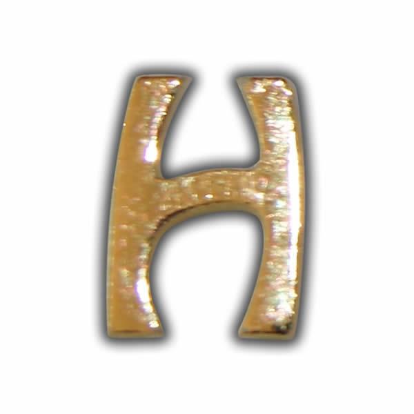 """Wachsbuchstabe """"H"""" Gold zum Kerzen beschriften Test"""