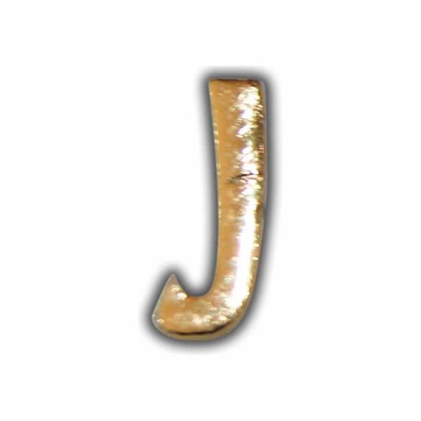 """Wachsbuchstabe """"J"""" Gold zum Kerzen beschriften"""