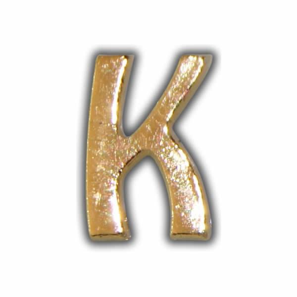 """Wachsbuchstabe """"K"""" Gold zum Kerzen beschriften"""
