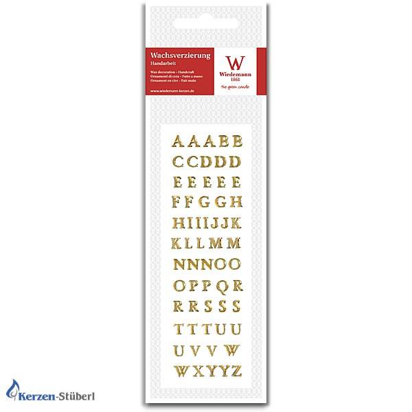 Wachbuchstaben in Gold zum Kerzen selber basteln, verzieren, beschriften Test