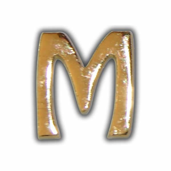 """Wachsbuchstabe """"M"""" Gold zum Kerzen beschriften"""