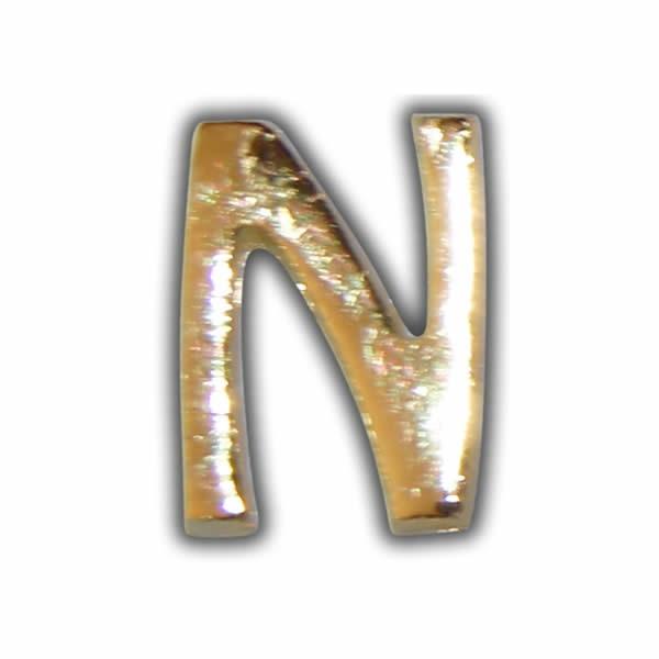 "Wachsbuchstabe ""N"" Gold zum Kerzen beschriften Test"
