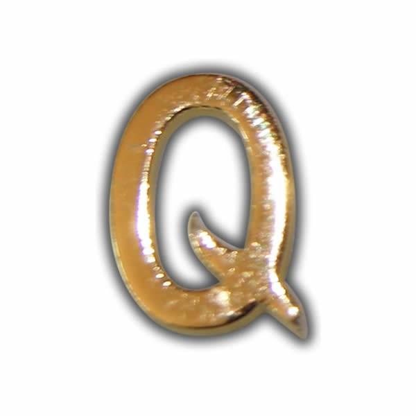 """Wachsbuchstabe """"Q"""" Gold zum Kerzen beschriften Test"""