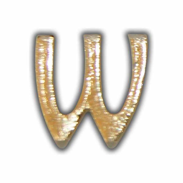 "Wachsbuchstabe ""W"" Gold zum Kerzen beschriften Test"