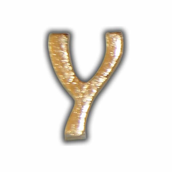 """Wachsbuchstabe """"Y"""" Gold zum Kerzen beschriften Test"""