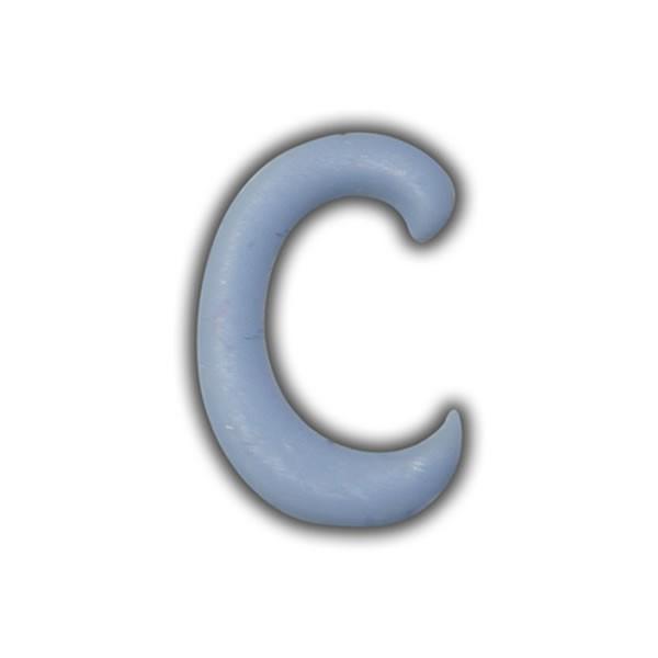 """Wachsbuchstaben """"C"""" Hellblau zum Kerzen basteln Test"""