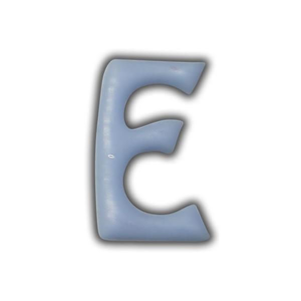 "Wachsbuchstaben ""E"" Hellblau zum Kerzen basteln Test"