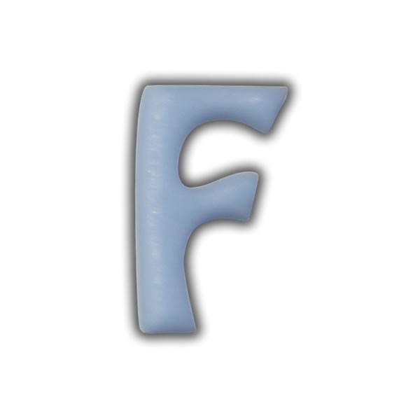 """Wachsbuchstaben """"F"""" Hellblau zum Kerzen basteln"""