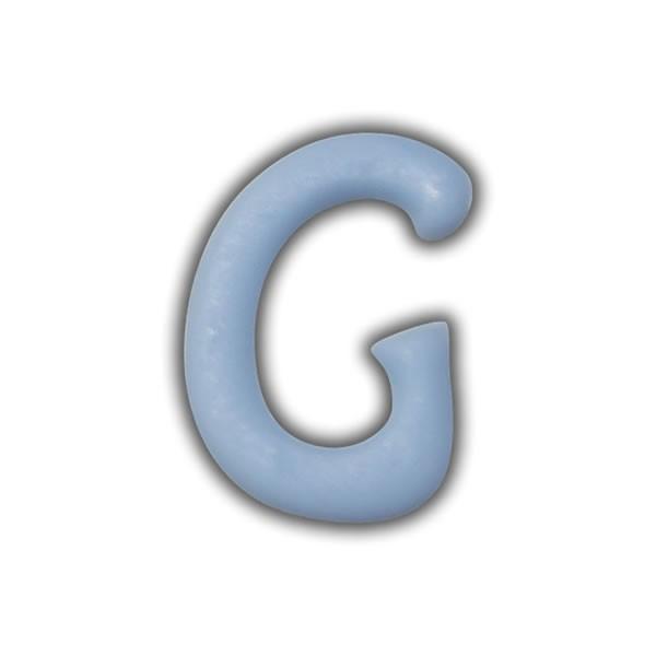 """Wachsbuchstaben """"G"""" Hellblau zum Kerzen basteln Test"""