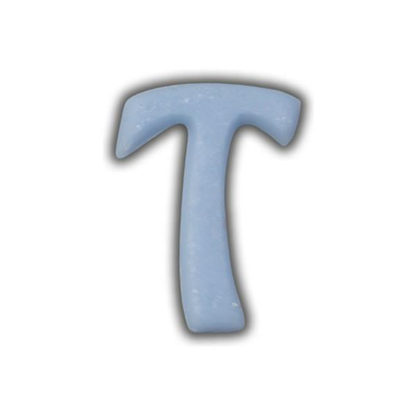 """Wachsbuchstaben """"T"""" Hellblau zum Kerzen basteln Test"""