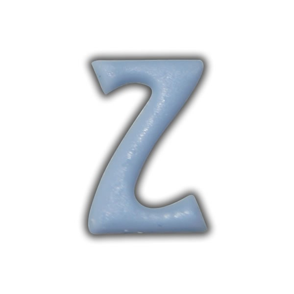 """Wachsbuchstaben """"Z"""" Hellblau zum Kerzen basteln Test"""