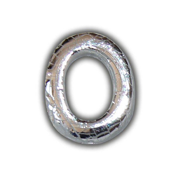 """Buchstabe-Wachs """"O"""" in Silber zum Kerzen personalisieren"""