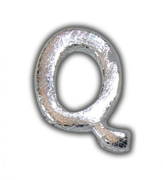 """Wachsbuchstaben """"Q"""" in Silber zum Kerzen personalisieren Test"""