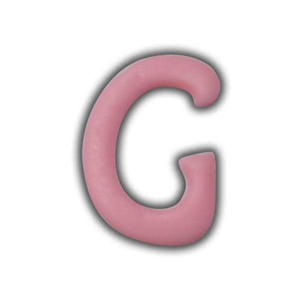 """Einzelne Wachsbuchstaben """"G"""" Rosa Test"""
