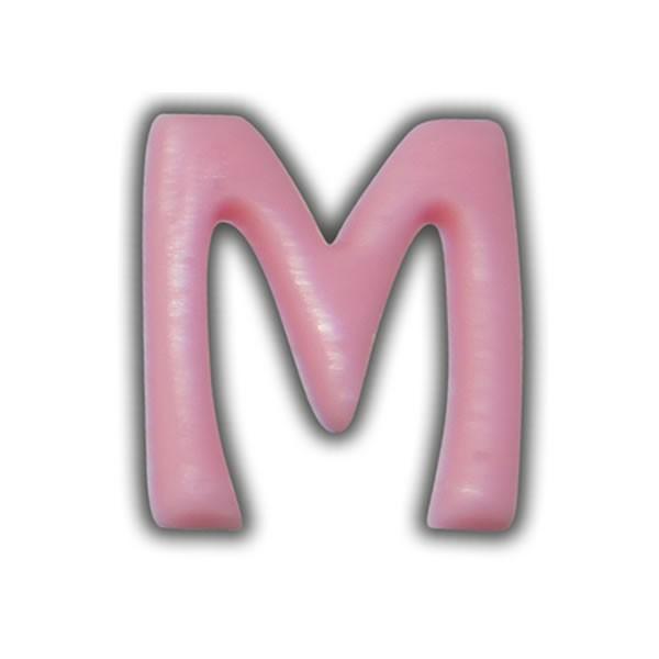 """Einzelne Wachsbuchstaben """"M"""" Rosa"""