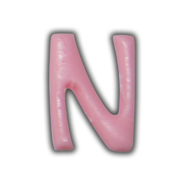 """Einzelne Wachsbuchstaben """"N"""" Rosa"""