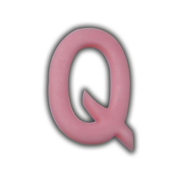 """Einzelne Wachsbuchstaben """"Q"""" Rosa Test"""