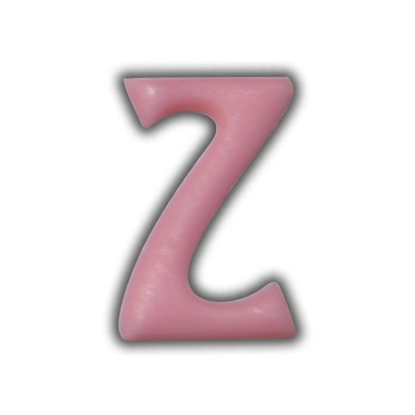 """Einzelne Wachsbuchstaben """"Z"""" Rosa Test"""