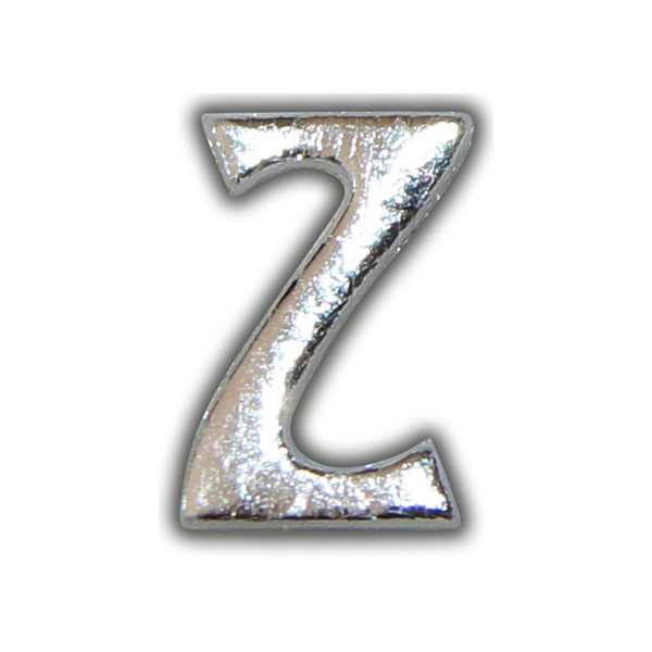 """Kerzenbeschriftung-Wachsbuchstabe """"Z"""" Silber-Moderne Schriftart Test"""
