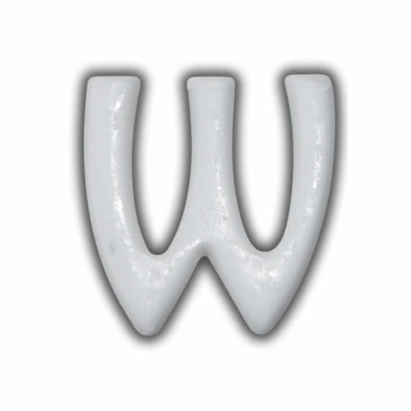 """Wachsbuchstaben """"W"""" Weiss für Vintage Kerzen Test"""