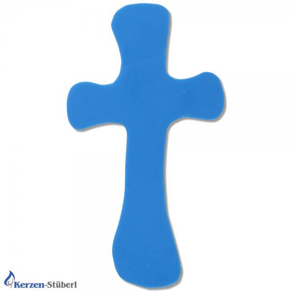 Wachskreuz in Blauer Frabe Test