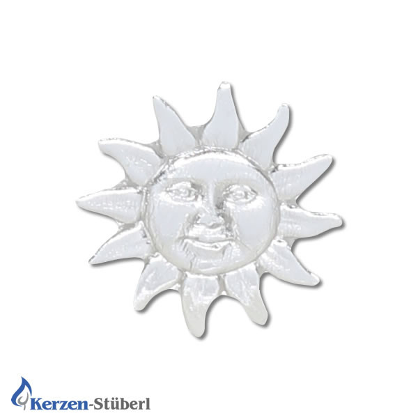 Kerzen verzieren Sonne Silber Test