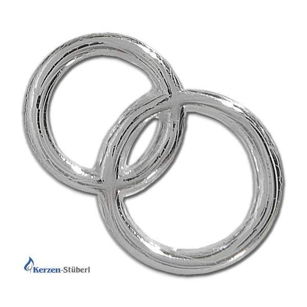 Ringe aus Wachs in Silber