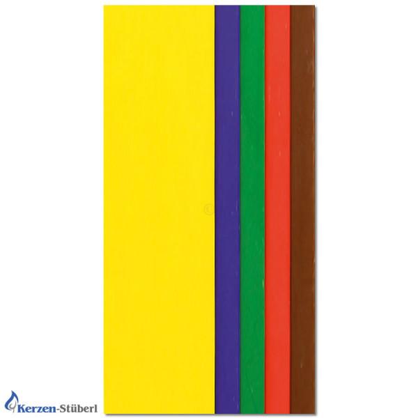 Wachsplattten-Set-Grundfarben Test