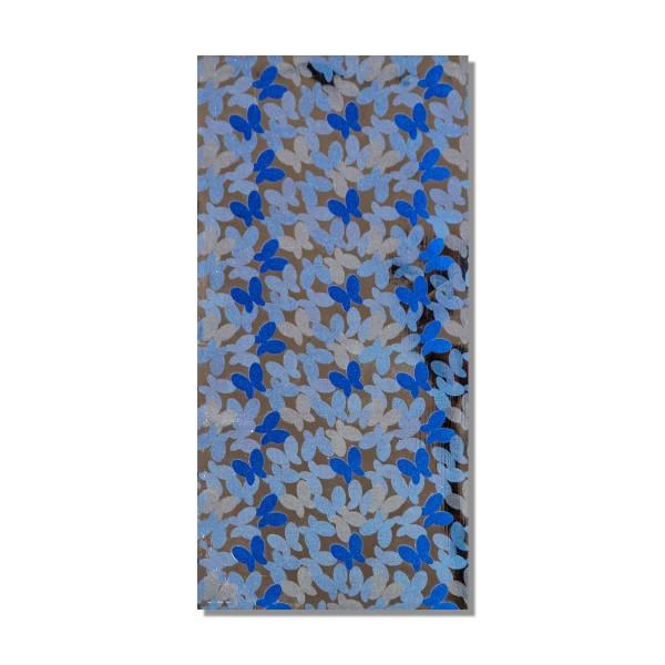Kerzen Verzierwachsplatte Blaue Schmetterlinge