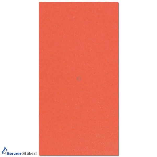 Wachsplatten-Orange mit Perlmutt glänzender Oberfläche Test