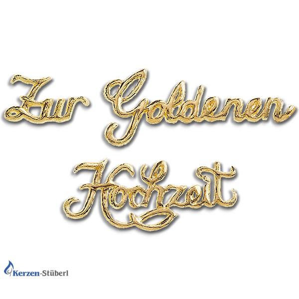 Wachsschriftzug Zur Goldenen Hochzeit Kerzen Stuberl