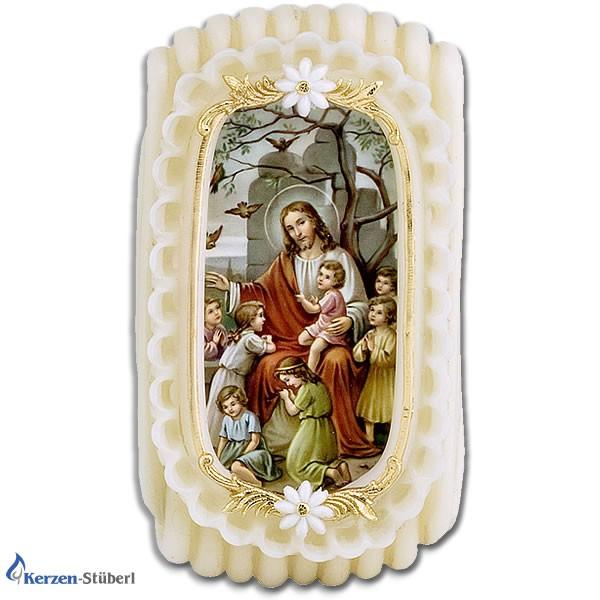 Wachsstock - Wachsstöckl Jesus mit spielnden Kindern