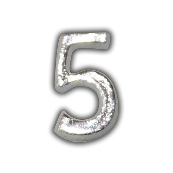 """Wachszahl """"5-Nummer 5"""" in Silber Test"""
