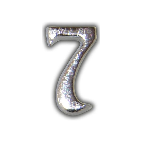 """Wachszahl """"7-Nummer Sieben"""" in Silber Test"""