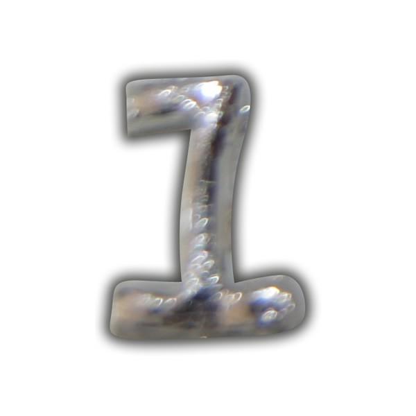 """Wachszahl """"1-Nummer Eins"""" in Silber"""