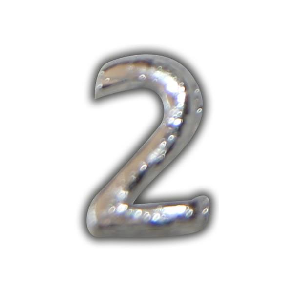 """Wachszahl """"2-Nummer Zwei"""" in Silber Test"""