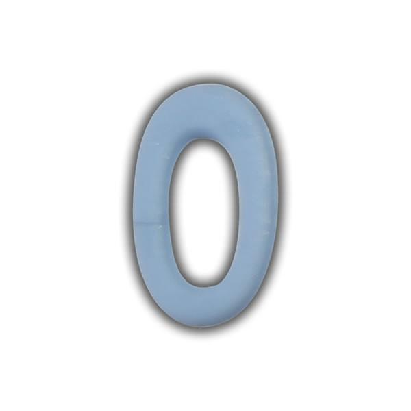 Wachszahlen #0 zum Taufkerzen beschriften
