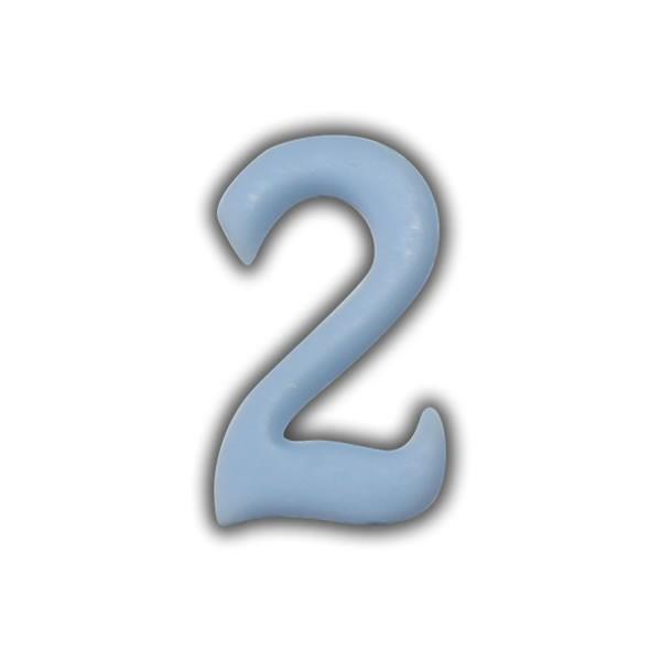 Wachszahlen #2 zum Taufkerzen beschriften