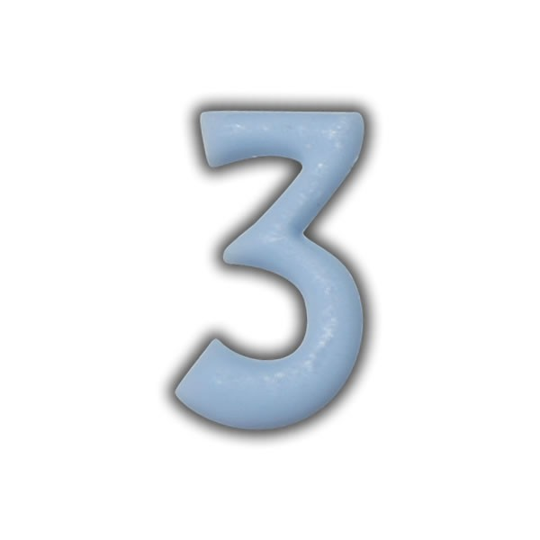 Wachszahlen #3 zum Taufkerzen beschriften Test
