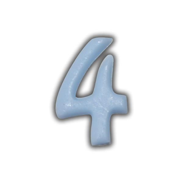 Wachszahlen #4 zum Taufkerzen beschriften Test