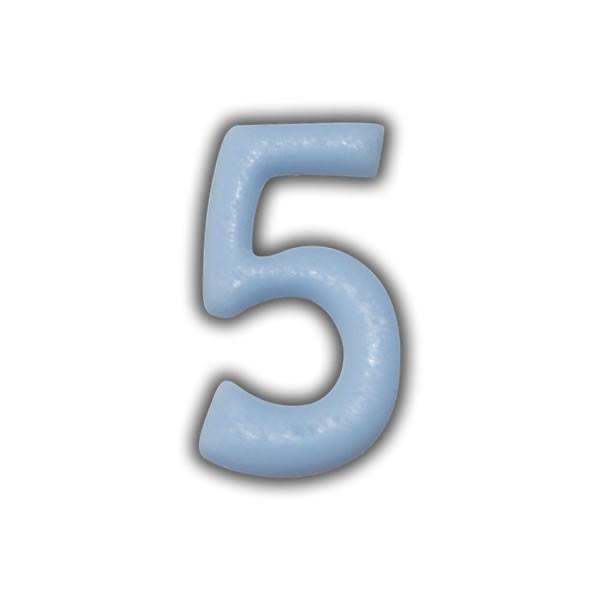 Wachszahlen #5 zum Taufkerzen beschriften