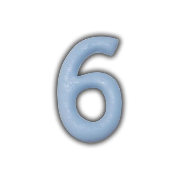 Wachszahlen #6 zum Taufkerzen beschriften Test