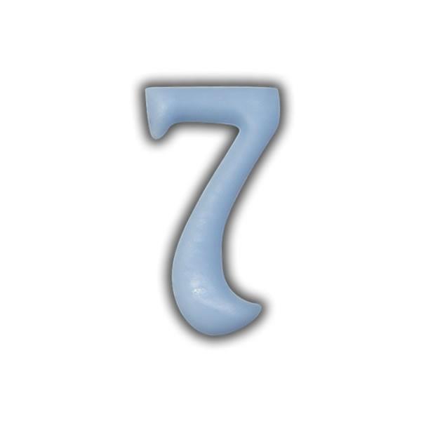 Wachszahlen #7 zum Taufkerzen beschriften