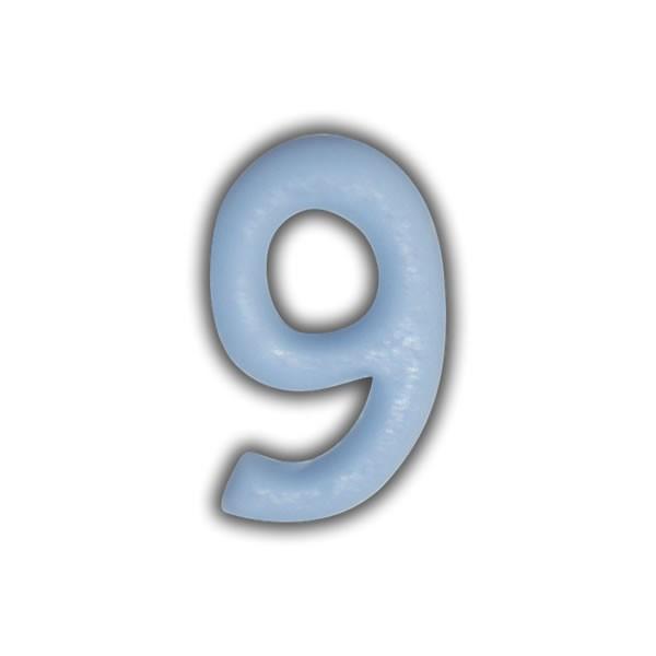 Wachszahlen #9 zum Taufkerzen beschriften Test