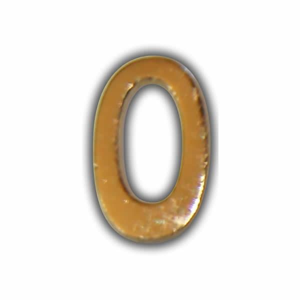 """Wachszahl """"0-Nummer Null"""" in Gold"""