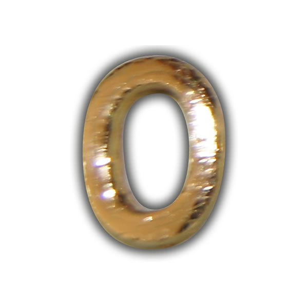 """Wachszahlen """"0-Nummer Null"""" in Gold"""