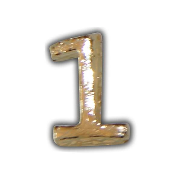 """Wachszahlen """"1-Nummer Eins"""" in Gold Test"""