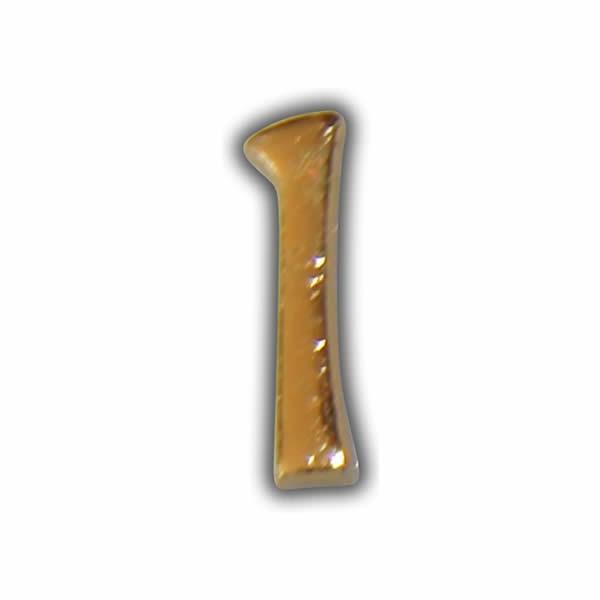 """Wachszahl """"1-Nummer Eins"""" in Gold"""