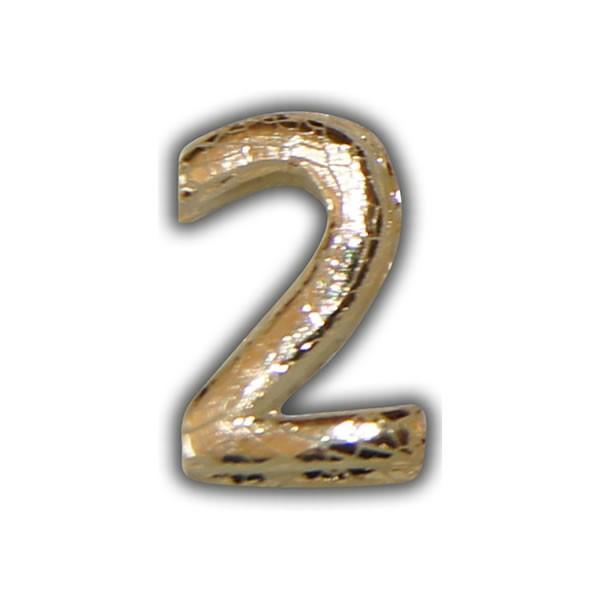 """Wachszahlen """"2-Nummer Zwei"""" in Gold"""