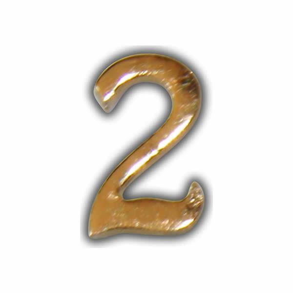 """Wachszahl """"2-Nummer Zwei"""" in Gold"""